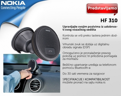 Nokia speakerphone HF 310 - Oprema za automobile
