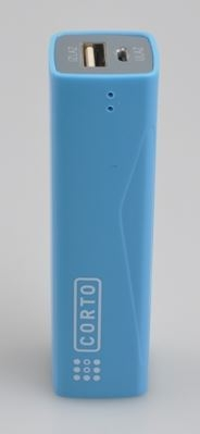 Baterija POWER BANK CORTO 2600mAh - Blue - Backup za baterije